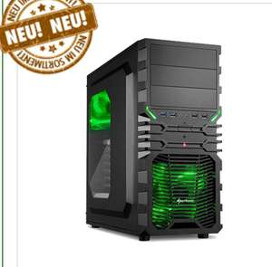 Rhino Gaming PC: Ryzen 5 1600X, Gigabyte B350, 8GB RAM, GTX 1070, 120GB SSD, 1000GB HDD, Bequiet! Pure Power 10 600W, DVD-Brenner (Konfigurierbar z.B.: Ryzen 5 1600X + 1050 TI für unter 600€)