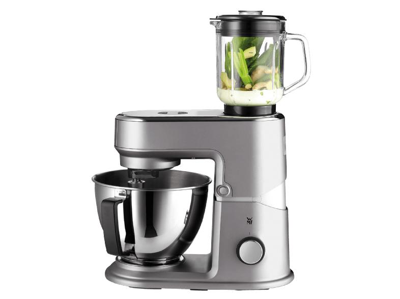 WMF Küchenminis Küchenmaschine One for All (430 Watt, Cromargan-Rührschüssel 3 L, planetarisches Rührwerk, Timerfunktion, inkl. Mixeraufsatz aus Glas für Smoothies und Co.)