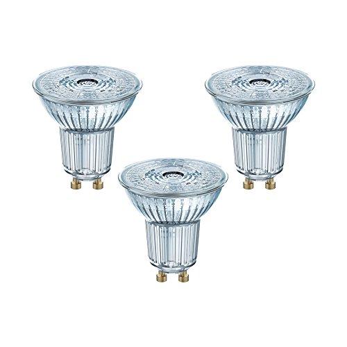 [ Amazon Plus Produkt ] 3 x Osram LED-Reflektorlampe | Warm White (2700 K) | Sockel GU10 |ersetzt Reflektorlampen mit 35 W | 2,60 W | LED STAR PAR16 [Energieklasse A+]