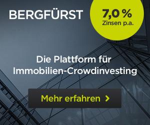 Gutschein über €10,- auf Immobilieninvestment (Bergfürst)