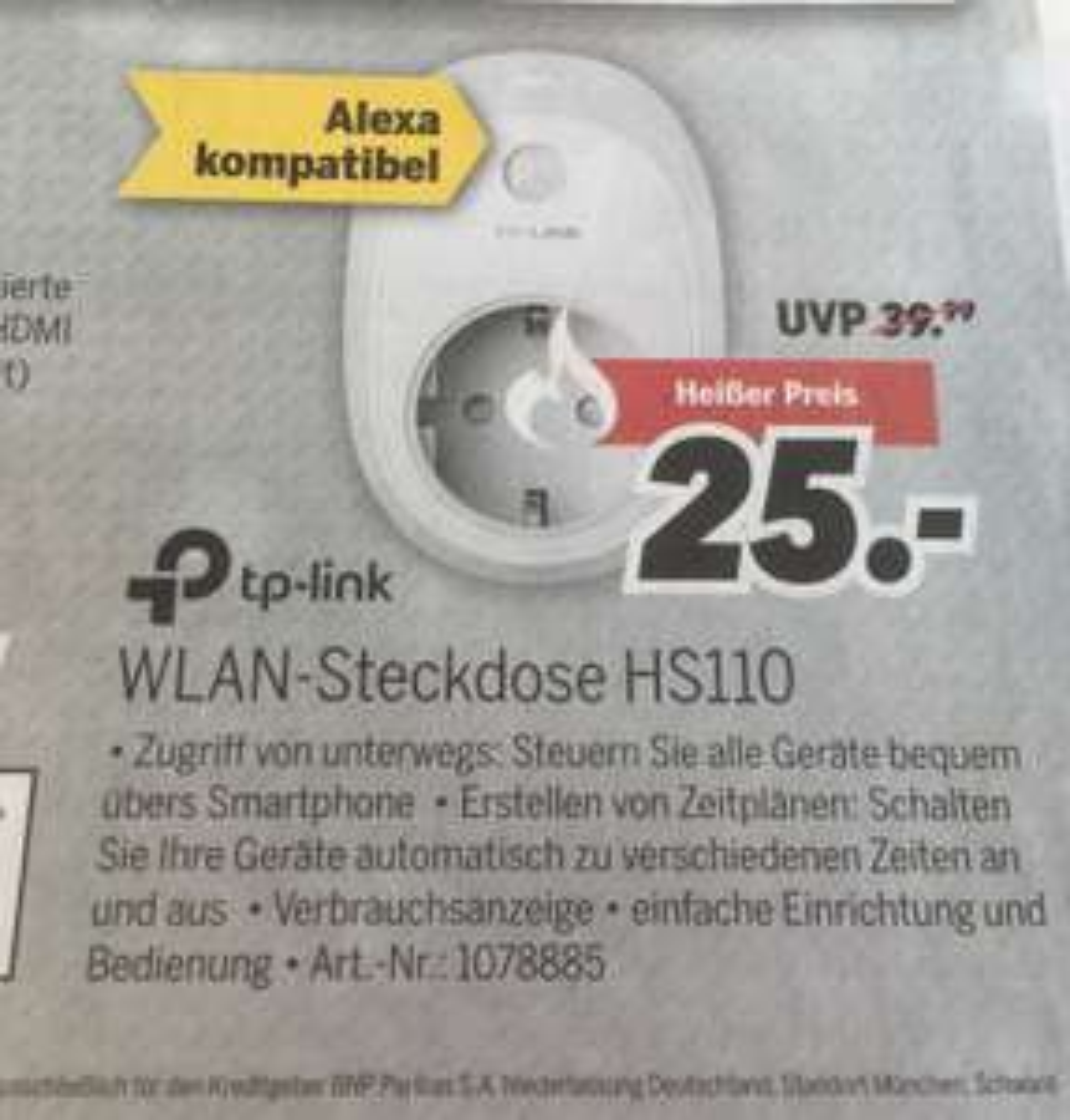 [Lokal Unterwellenborn] TP-Link HS110 WLAN-Steckdose