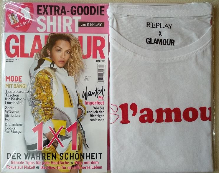 T-Shirt von Replay als Goodie in der aktuellen Ausgabe der Glamour