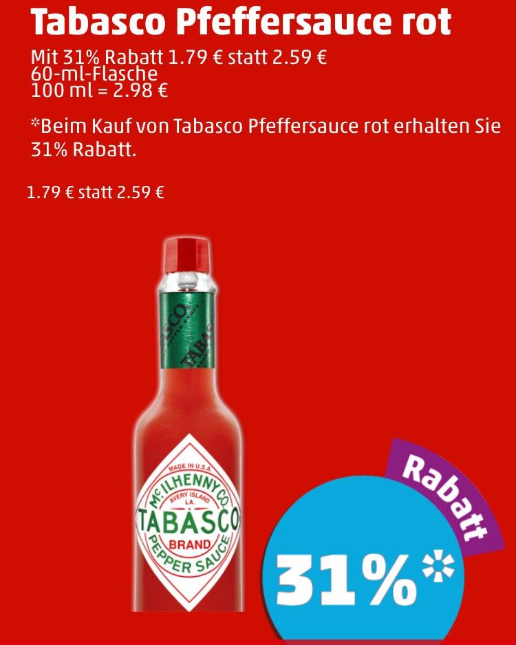 [Penny App] Tabasco Sauce rot für 1,79€/ 60ml bis 14.04.