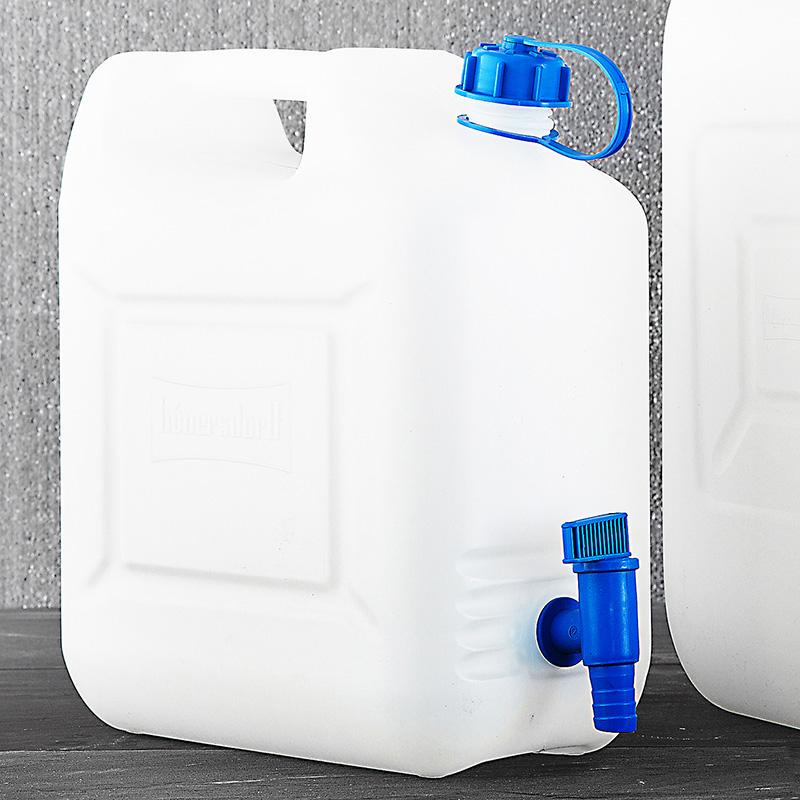 """10 Liter oder 20 Liter Hünersdorff Caravan Wasser-Kanister """"ECO"""" mit Hahn für 6,99 Euro / 9,99 Euro [Norma]"""