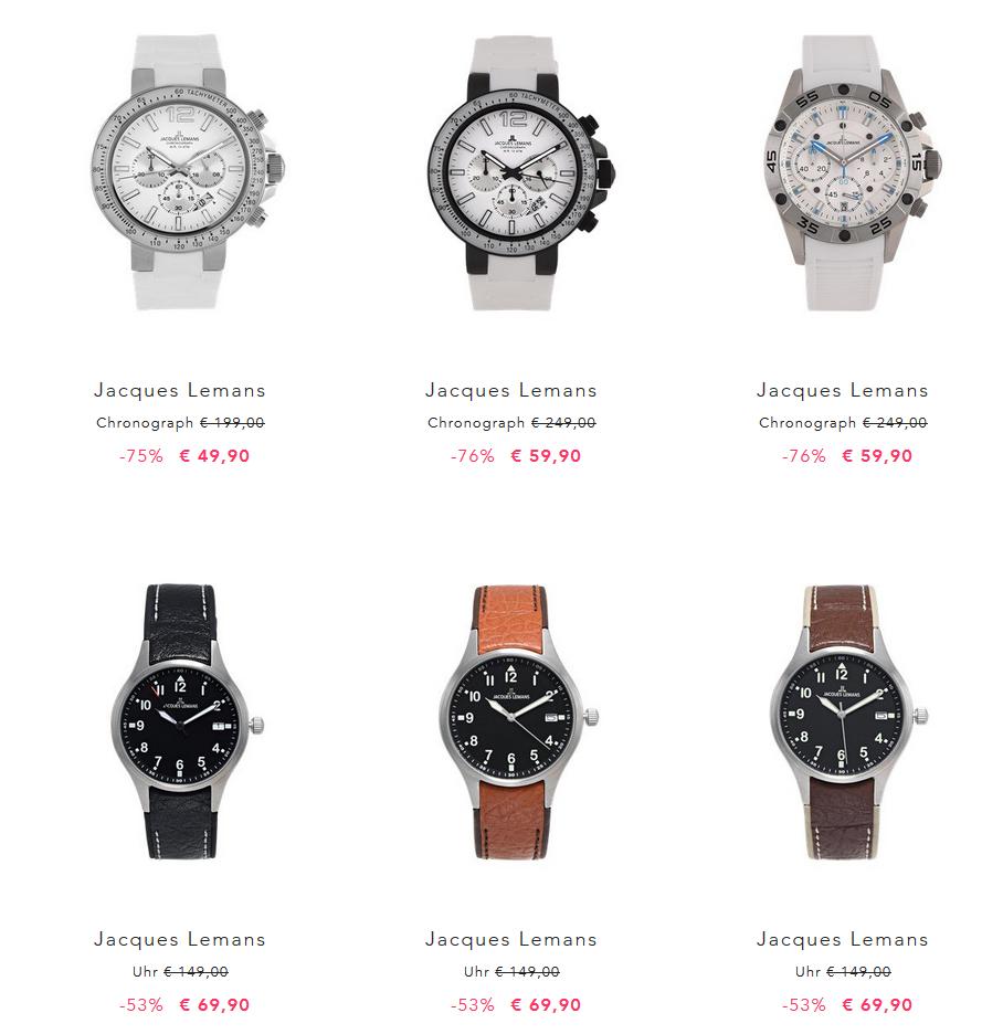 [Best Secret] Jacques Lemans Uhren bis zu 76% reduziert