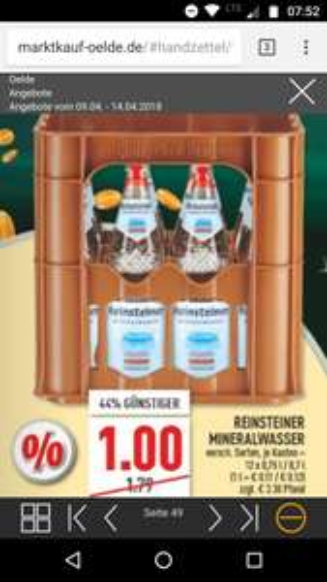 Mineralwasser in Glasflaschen