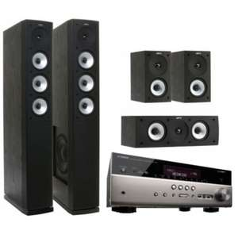 [Bundle] Jamo 5.0 Set + Yamaha RX-V483 AV-Receiver + WX-010 MusicCast Aktivlautsprecher