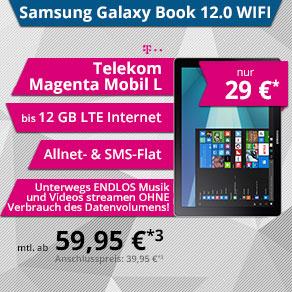 Telekom Magenta Mobil L YOUNG MAGENTA1 mit Samsung Galaxy Book 12.0 256GB