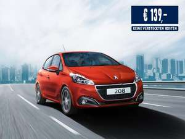 Peugeot 208 Active 83 PS Leasing OHNE Anzahlung INKL. Überführungskosten INKL. Wartung & Verschleiß TOP AUSSTATTUNG 10Tsd. KM 24 Mon. nur 139 EUR