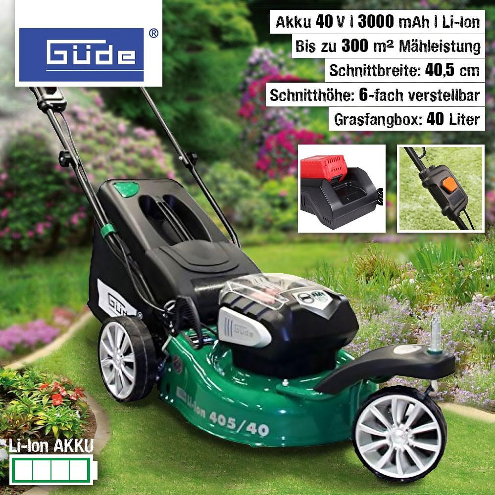 Güde Li-Ion Akku-Trike-Rasenmäher 40V 405/40-3 S