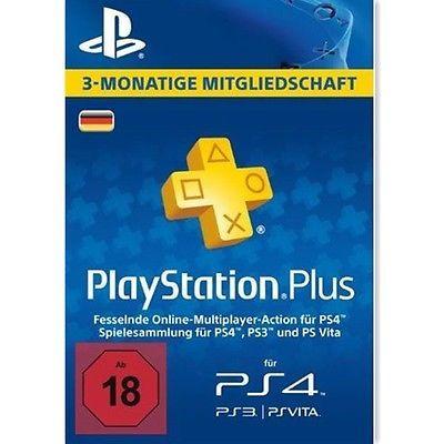 PlayStation Plus: Mitgliedschaft für 3 Monate 25% bis zum 11.04.2018 11:00 Uhr