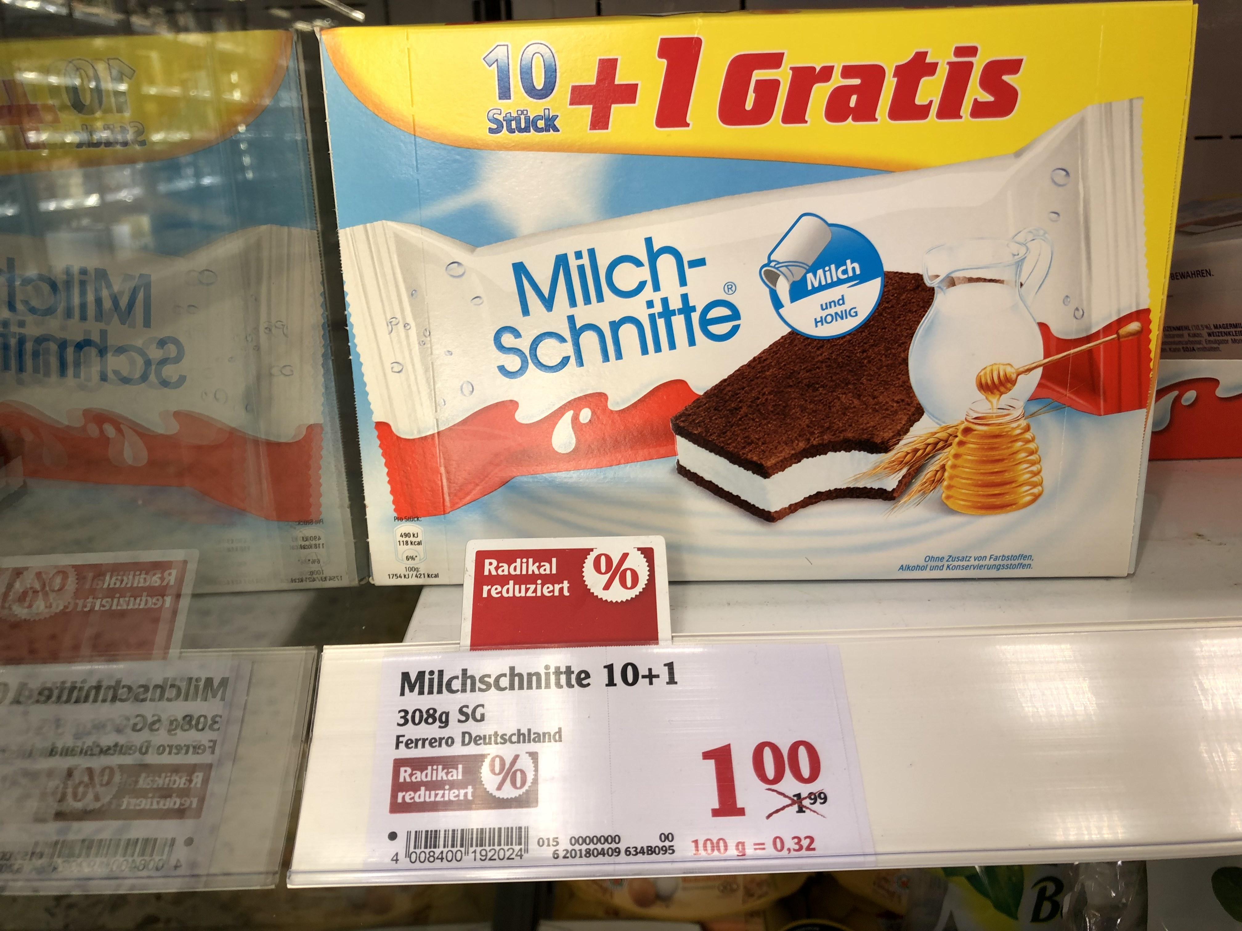 [lokal Globus] Milchschnitte 10+1 Globus Bobenheim Roxheim