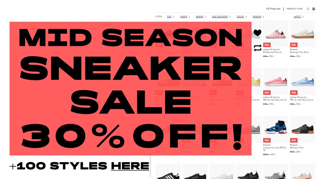 30% Rabatt auf ausgewählte Sneaker bei [Caliroots] --> Adidas Deerupt Runner für 75€, Samba OG für 75€ [Größen bis 48] [3% Shoop möglich]