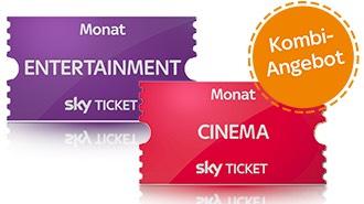 [Sky Ticket] 2 Monate Entertainment + 2 Monate Cinema für 9,99€
