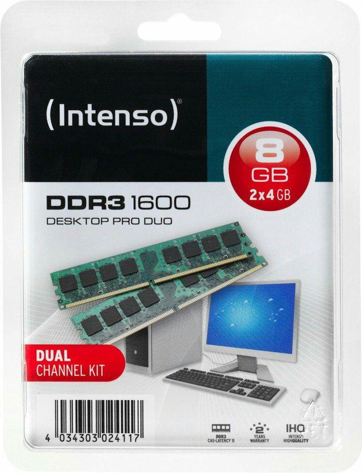 [NBB] Intenso DDR3 - 8 GB (2 × 4 GB), 1600 MHz, DIMM CL11