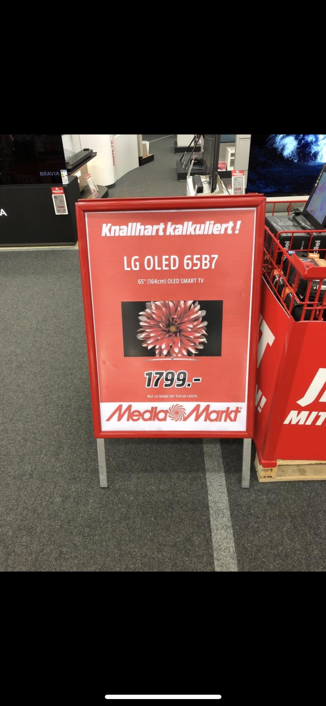 (Lokal) Bornheim Media Markt Noch 5 Stk. LG 65B7D OLED