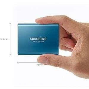 Samsung Portable SSD T5 500GB mit USB 3.1 für 144€im Cybersale - sehr kleine SSD, stoßfest im Aluminiumgehäuse