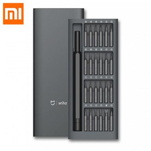 Xiaomi Mijia Wiha Schraubenzieher Kit 24 In 1 Präzision Magnetic Bits Aluminiumlegierung - Schwarz