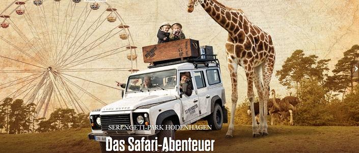 Kostenlose Kinderfreikarte (3 – 12 Jahre) für den Serengeti-Park Hodenhagen