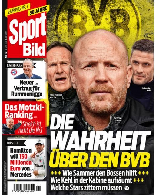 13 Ausgaben SportBild + 15,00 € Amazon Gutschein für 16,90 €