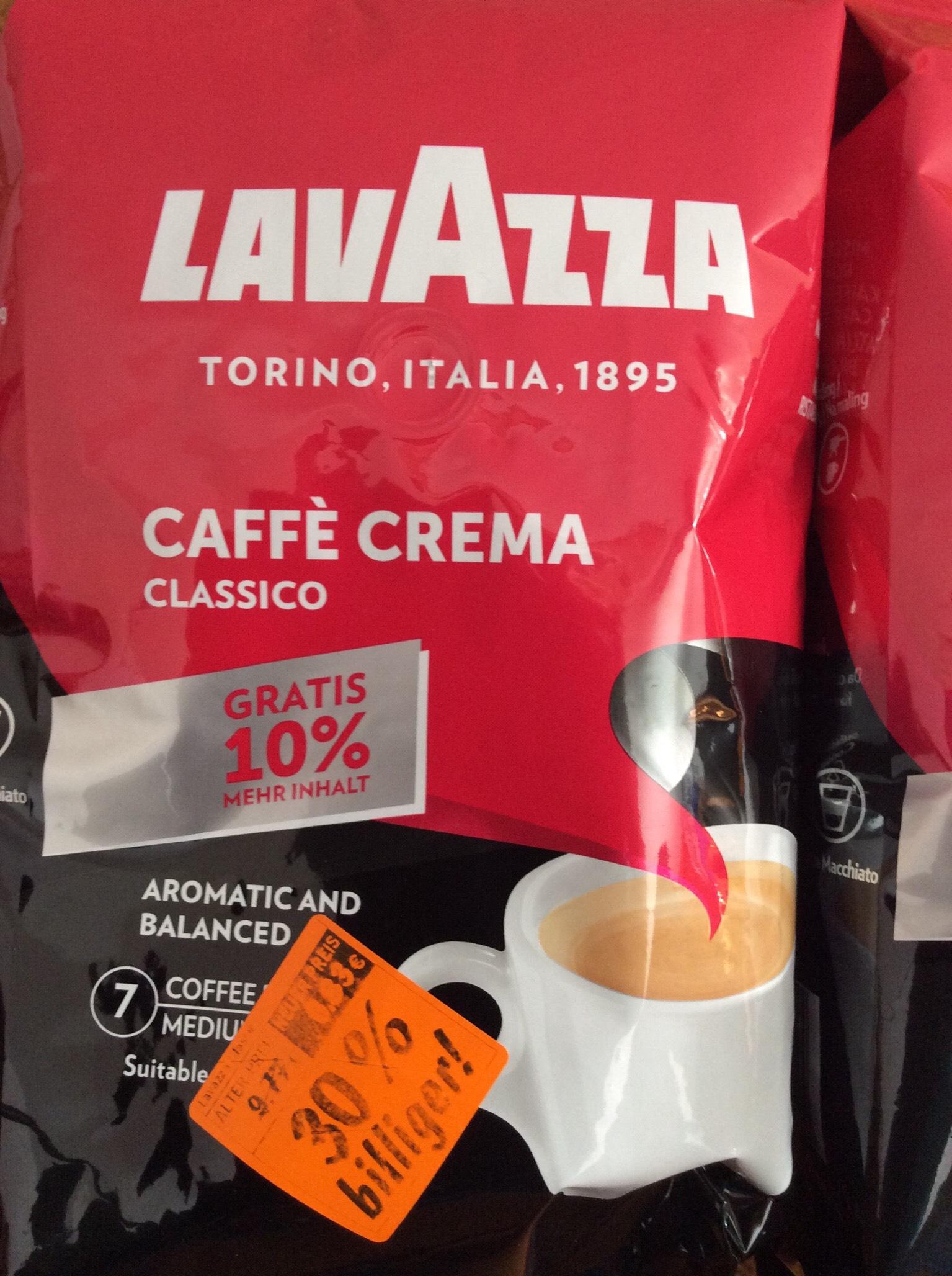 Lavazza 1100g im Abverkauf bei Lidl (eventuell war das Angebot nur örtlich in Burgdorf verfügbar)