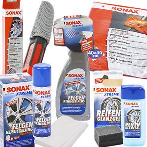 Für die Sommerfelgen: SONAX XTREME 5-teiliges Felgenreiniger-Set