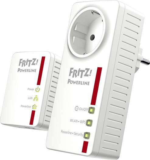 [Voelkner] Smart-Steckdose + PowerLan - AVM Powerline WLAN Starter Kit für 81,99€