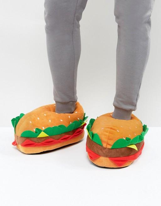 Stil muss nicht teuer sein: Burger Hausschuhe in Größe 38-39 und 43-44 @asos
