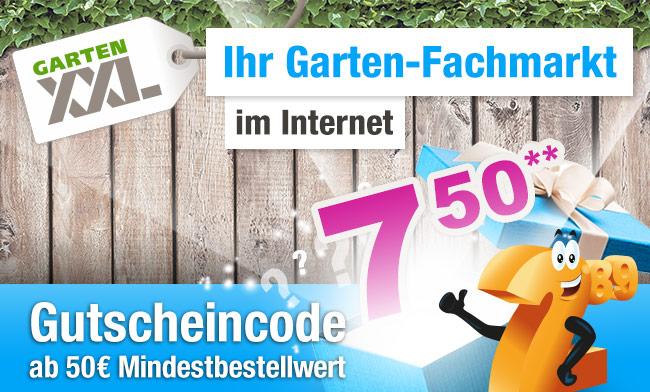 GartenXXL - 7,50 € Gutschein ab 50 € Mindestbestellwert