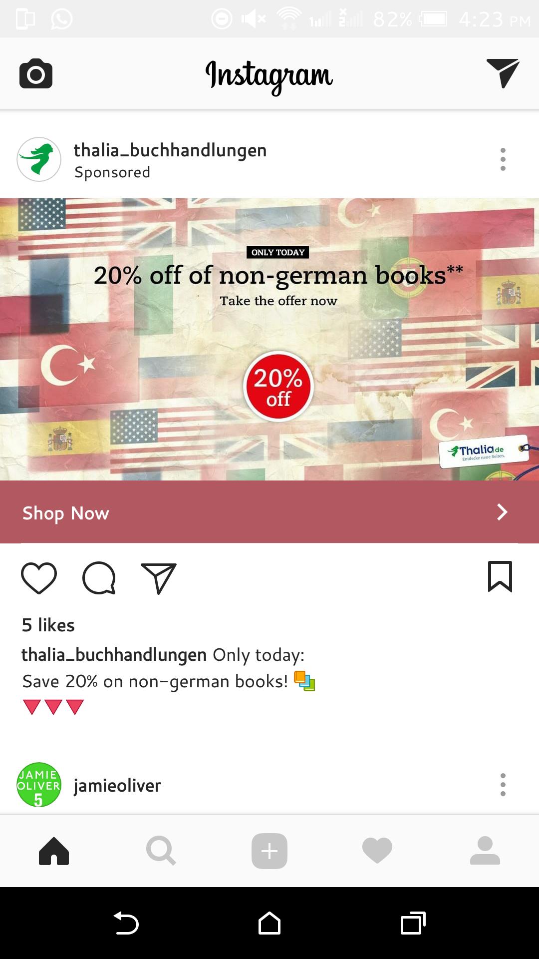Nur heute: 20% Rabatt auf fremdsprachige Bücher