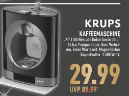 [Marktkauf] Krups KP1108 Dolce Gusto Kaffeemaschine plus 10€ Kapselgutschein und 6 Gratis Kapseln