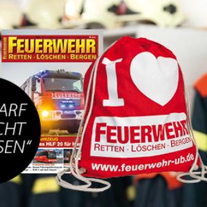 Feuerwehr Magazin kostenlos testen und Stoffbeutel erhalten
