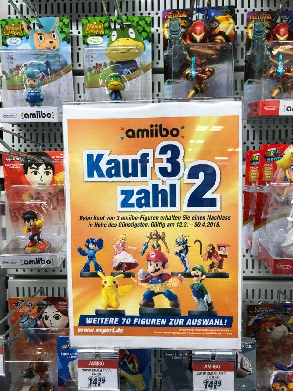 [Expert] Alle Amiibo Figuren für 3 zahl 2 [Möglicherweise NUR Lokal]