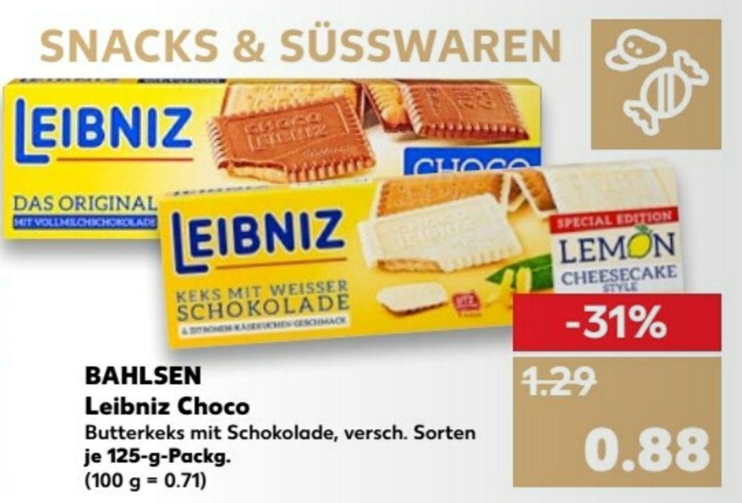 Bahlsen Leibniz Choco versch. Sorten z.b. weisse Schoko Lemon Cheesecake Style Kaufland ab 12.04. !