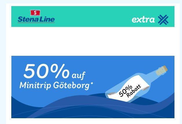 Minikreuzfahrt Kiel-Göteborg 50% günstiger.