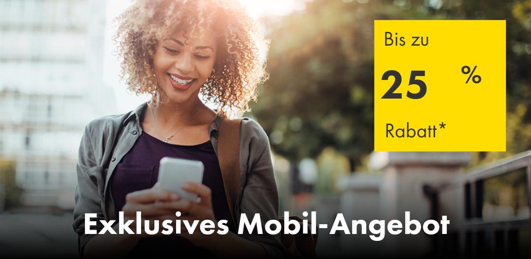 Europcar - bis zu 25% Rabatt auf mobile Buchungen