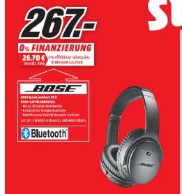 [Regional Mediamarkt Konstanz-Sonntagsangebot am 15.04] Bose QuietComfort 35 II Wireless Kopfhörer in schwarz oder silber für je 267,-€
