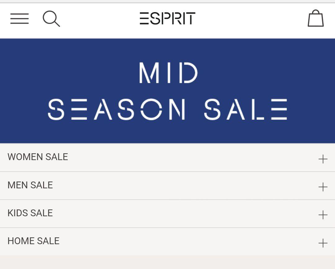 Esprit Mid Season Sale mit vielen reduzieren T-Shirts