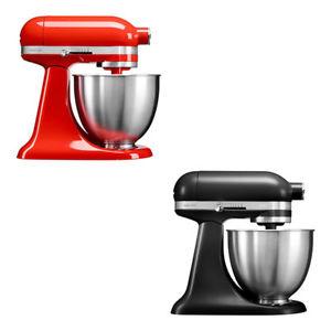 [deltatecc@eBay] KitchenAid Artisan Mini - 3,3L Küchenmaschine (250W, 10 Geschwindigkeitsstufen) in rot oder schwarz als Neuware + 3x Schnellwechseltrommeln gratis nach Registrierung