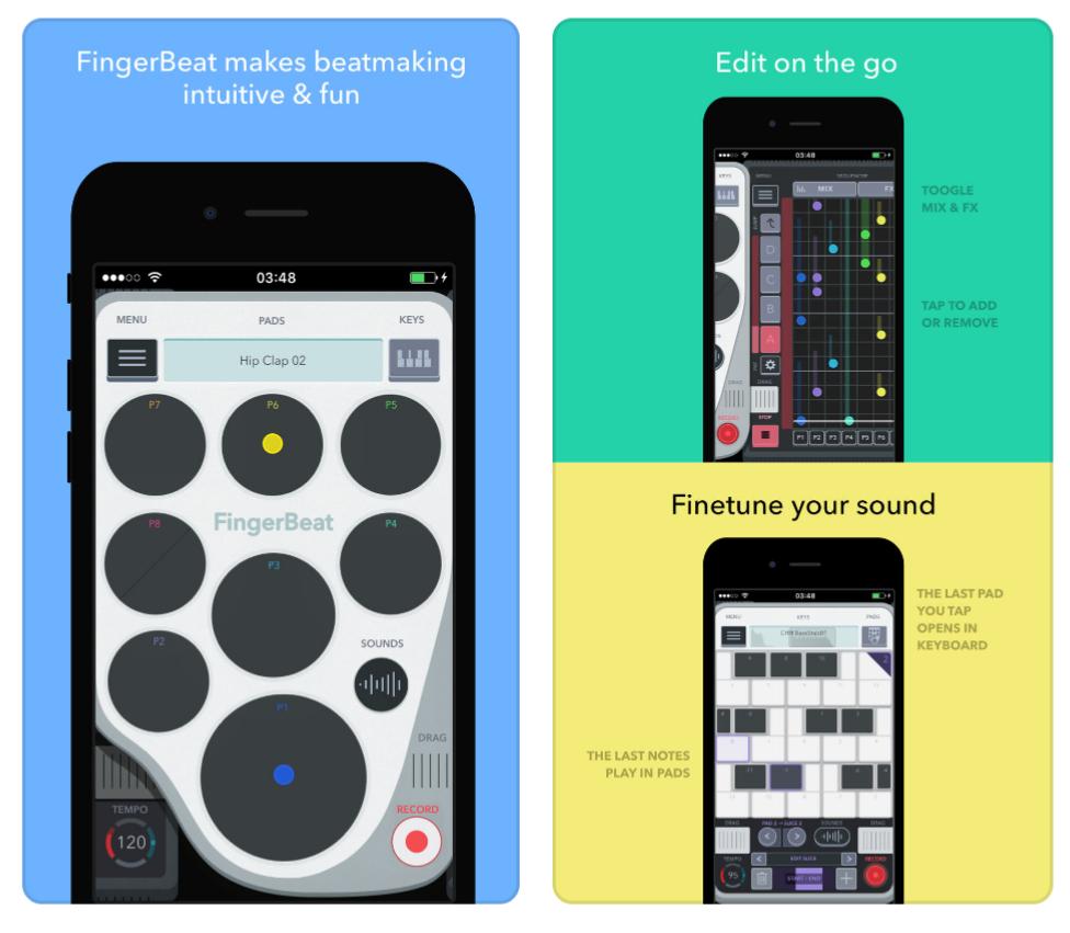 FingerBeat - Drum Pad kostenlos statt 5,49€ [iOS]