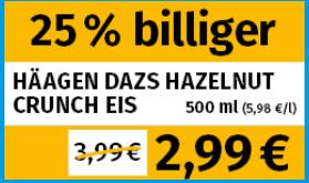 [Lokal] Berlin und Leipzig - Frostkauf - Häagen Dazs Hazelnut Crunch 500ml