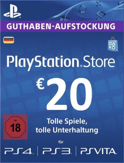 [scdkey] 20€ PSN (Playstation Network) Guthaben für 18,13€
