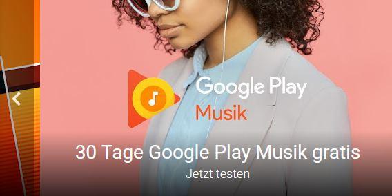 30 Tage kostenlos Zugriff auf 40 Millionen Songs bei Google PLAY STORE