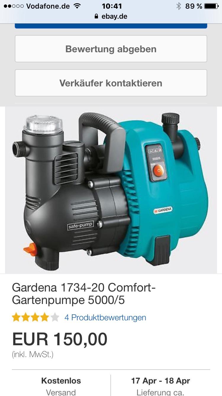 Gardena 1734-20 Comfort-Gartenpumpe 5000/5