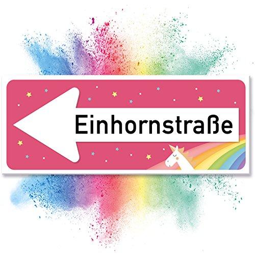 Einhhorn Schild - Einhornstraße (40 x 15cm) - Das braucht jeder!