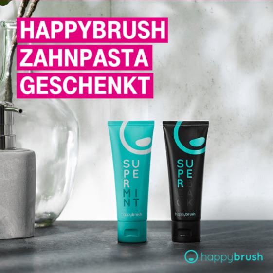 Telekom Mega-Deal: Happybrush Zahnpasta geschenkt