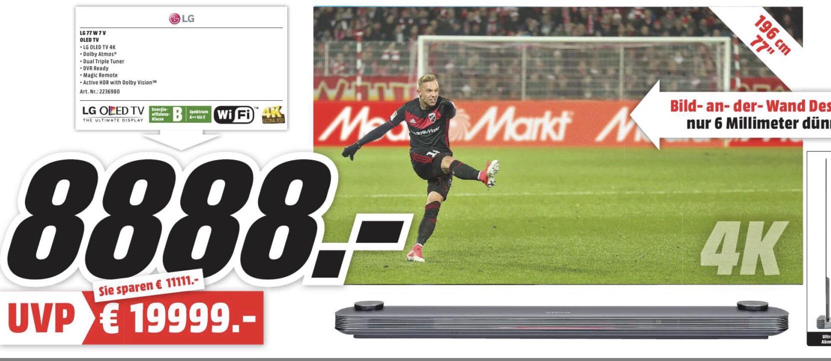 LG Signature OLED 77W7V - 77 Zoll OLED-UHD-TV (Lokal Media Markt Speyer)