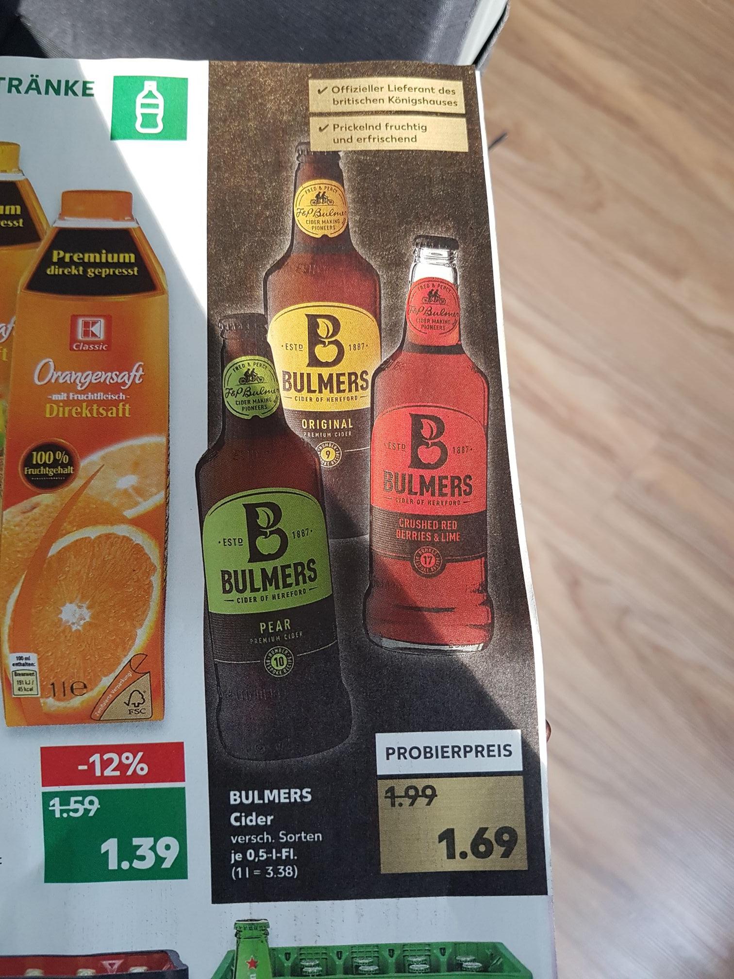 [Lokal Kaufland Berlin/Bundesweit möglicherweise?! ] ab 12.04. Bulmers Cider für 1,69€, verschiedene Sorten