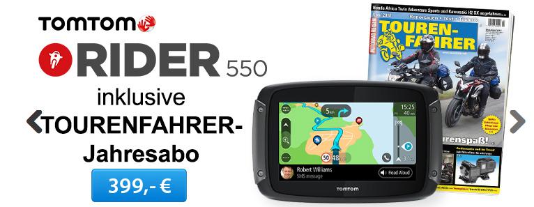 """Tomtom Rider 550 + gratis 1 Jahr """"Tourenfahrer"""" oder Tourendaten-Flat"""