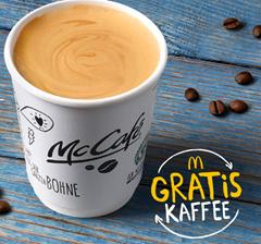 Gratis Kaffee Small bei McDonalds zur Frühstückszeit